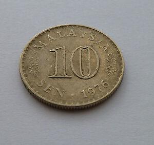 1976 Malaysia 10 Sen Coin - BRITAIN, United Kingdom - 1976 Malaysia 10 Sen Coin - BRITAIN, United Kingdom