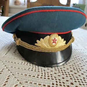 Schirmmuetze-Militaer-Offizier-Russland-UDSSR-CCCP-Gr-54-55-von-1987