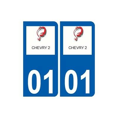 01 Chevry Logo Ville Autocollant Plaque Sticker - Angles : Arrondis