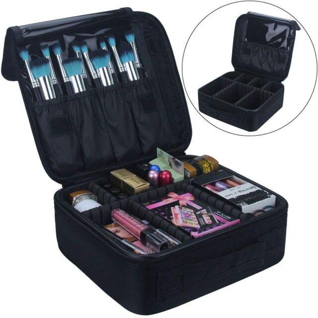 DreamGenius Portable Travel Makeup Bag Makeup Case Organizer with Large Capacity