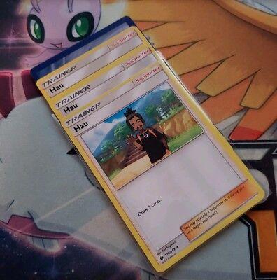 Pokemon TCG Hau 120//149 Sun /& Moon Base Set REVERSE HOLO Trainer NM//M