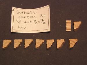 Shelf-Braces-1-mantel-corbel-dollhouse-window-trim-10ps-1-12-scale
