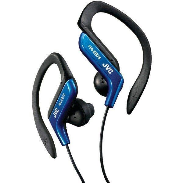 JVC HAEB75A Sport Style Ear-Clip Headphones/Earphones (Blue)