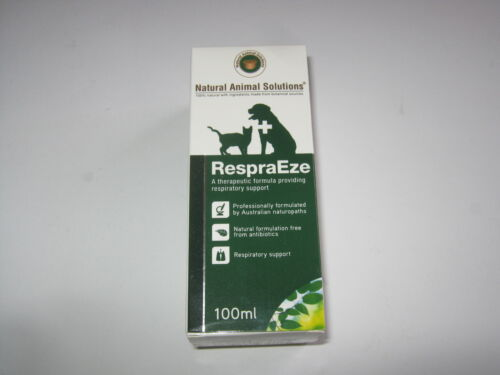 100ml Natural Animal Solutions RespraEze Respiratory Health 4 Dogs & Cats