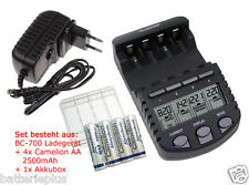 BC700 Schnell-Ladegerät + 4 xCamelion Always Ready AA 2500mAh+Akkubox