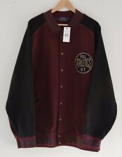RALPH LAUREN Polo maroon burgundy black baseball jacket coat 3XB 3XL 3X BIG XXXL