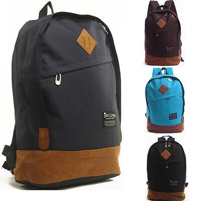 Fashion Women Men Canvas Backpack New Style Laptop School Shoulder Bag Rucksacks