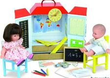Petitcollin France Play School Playset + 2 Dolls Organic Cotton NIB Vilac Lot