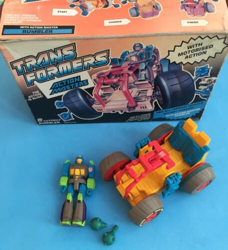 G1 Transformers European Autobot Action Master Rumbler with Box