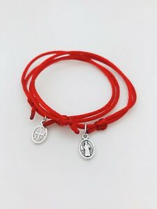 2 Pulseras Hilo Rojo Para Protección San Benito Ebay