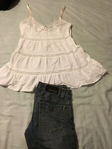 Guess-Jeans-Size-27-And-White-Top-Size-10