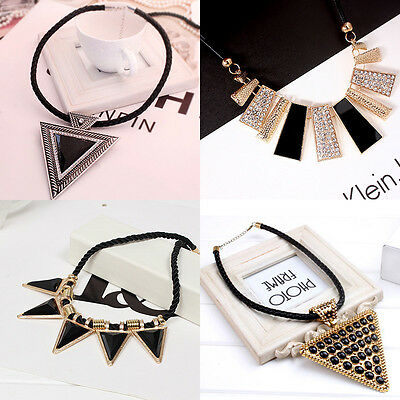 Charm Fashion Pearl Gold Silver Pendant Crystal Chain Jewelry Necklace