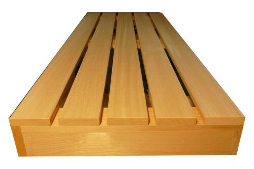 Saunabank Saunaliege Sauna Liege Holzbank Holz Bank 186x53cm Saunabau Abachi