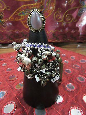 Handmade Indonesian Hardwood Bracelet Ring Cone Display Holder Black 20cm