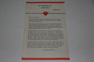 1939 Ford Color Sales Brochure with Announcement Letter