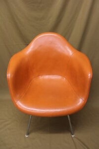 Antiques Mid-century Modernism Mid Century Modern Lounge Chair Set Eames Herman Miller Dax Orange Red Arm Shell