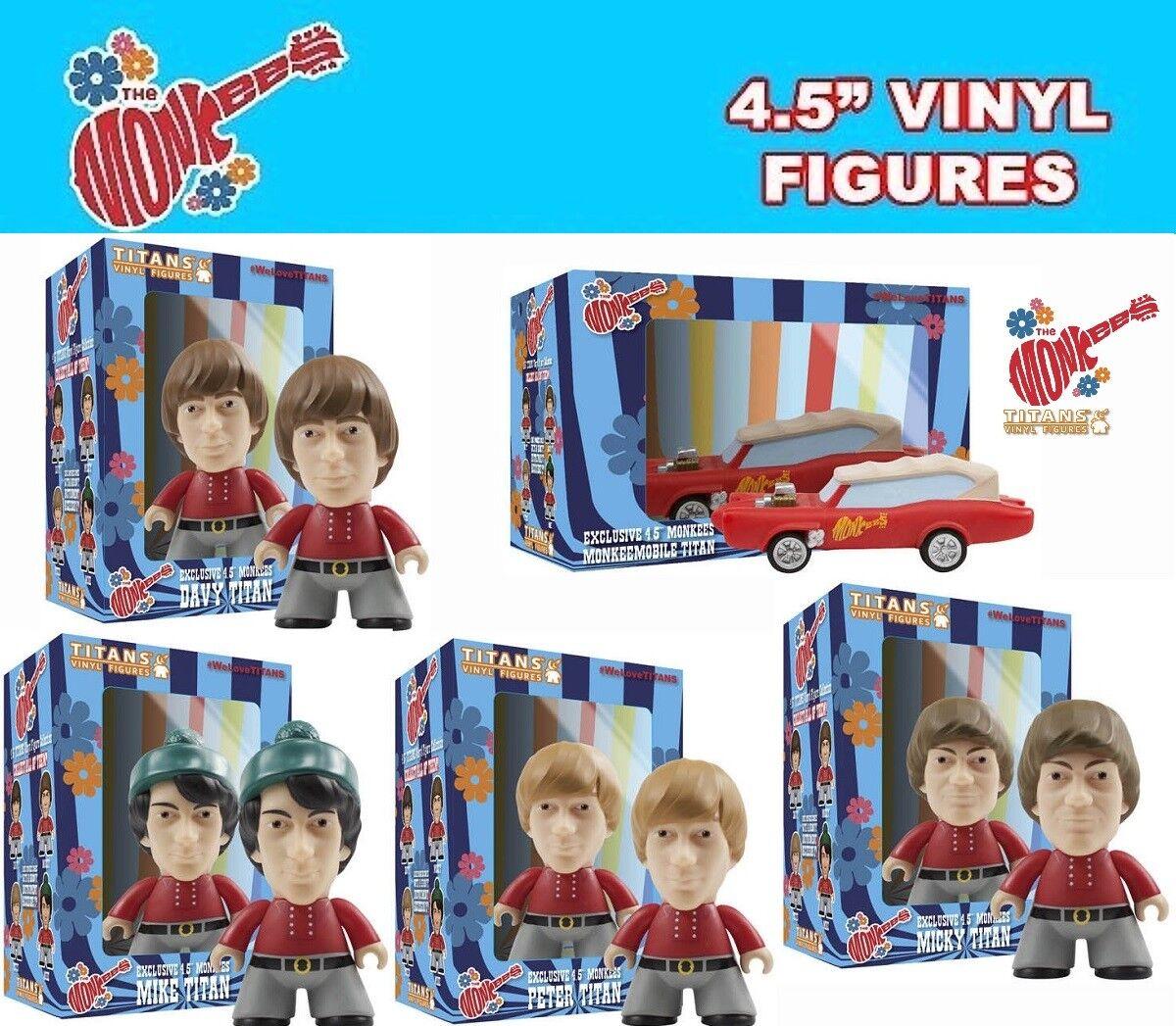 Titans VINILO - Exclusivo 4,5 THE MONKEES Set de figuras - MICKEY,Davy ,Mike ,