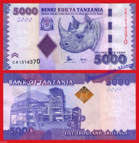 Pick 43 NEW SIGN  SC UNC New TANZANIA 5000 Shillings 2015 series