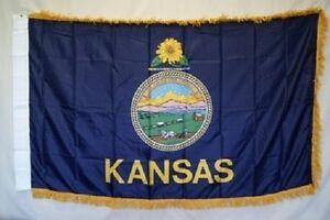 3x5-Kansas-State-Poly-Nylon-Sleeve-w-Gold-Fringe-Flag-3-039-x5-039-Banner