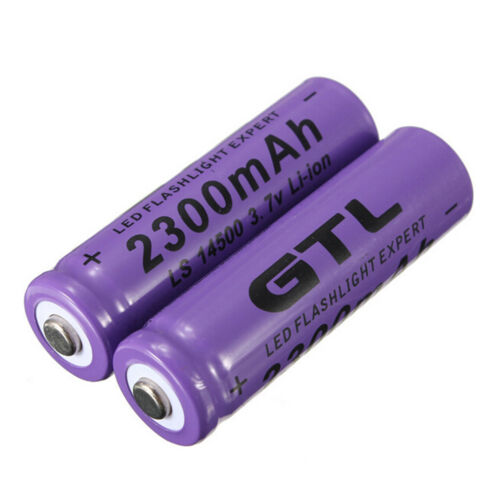 4pcs 3.7V 2300mAh 14500 AA Li-ion Rechargeable Battery For LED Flashlight UEl