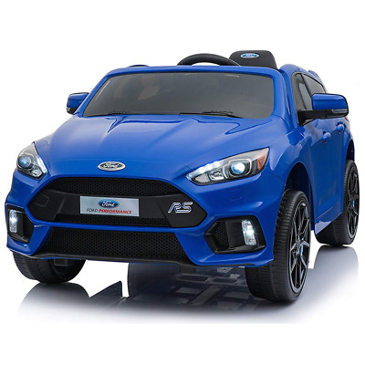 Licensed Ford Focus RS 12V Children's Battery Operated Ride On Car - Blue