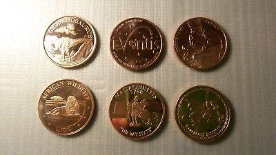 Other Bullion 6 Copper Bullion 1 Oz Rounds .999 Pure Various Designs Coins & Paper Money