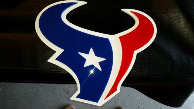 Houston Texans Wall Sign - Great for Bar, Man Cave, Fans!