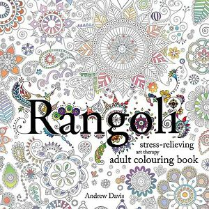 Image Is Loading Rangoli Stress Relieving Art Therapy Adult Colouring Book
