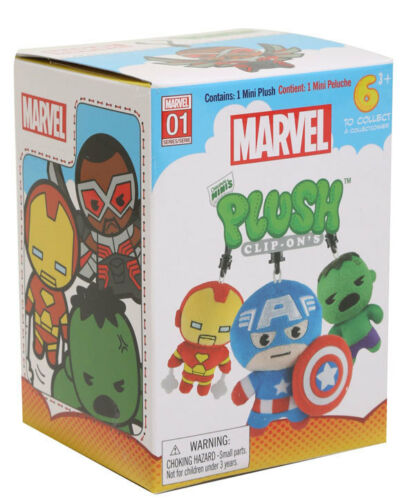 Zag Toys Marvel Black Widow Original Minis Plush Clip-Ons Backpack Bag