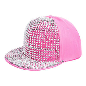 be8b3835aec Image is loading Blue-Banana-Unisex-Pink-Silver-Spike-Studded-Cap-
