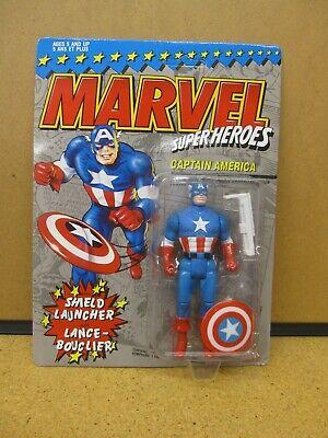 Marvel Super Heroes Captain America Action Figure Toy 1990 NIB VintageCharan