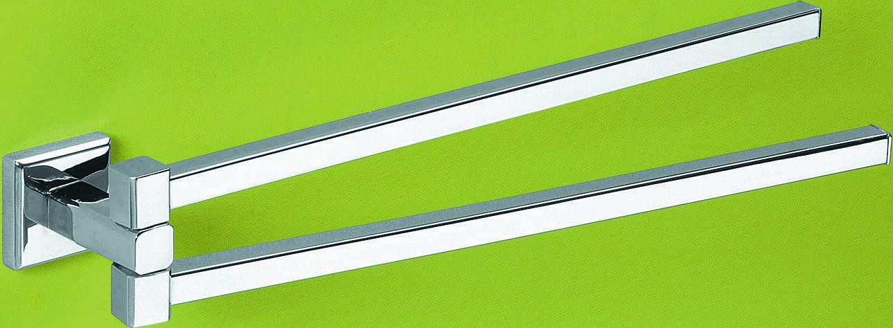 Porte-Serviettes Couleurado avec rougeule Porte-Serviette et Serviettes Chrome