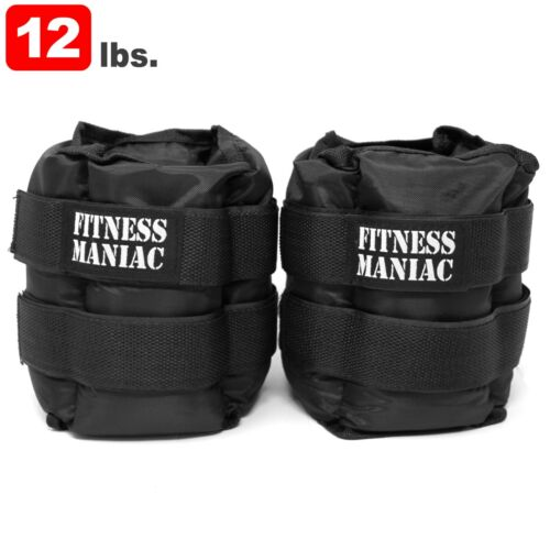 Ankle Weights Pair Adjustable Strap 2 lb 3 lb 5 lbs 10 lb 12lb 16 lbs 20 Pound