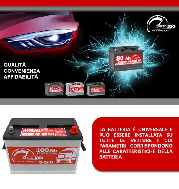 PRONTA ALL/'USO BATTERIA AUTO L4 100 Ah 720A = BOSCH FIAMM 90 95 DX