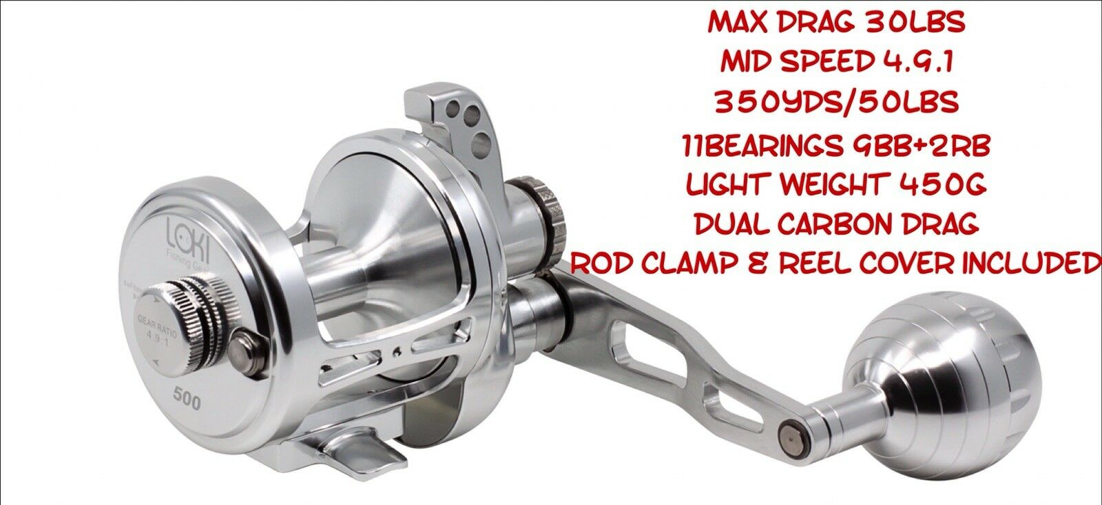 Jigging Conventional Fishing  Reel Super Light LT500 Loki Left Handed  preferential
