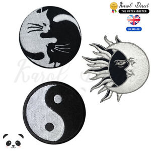 Yin-Yang-Embroidered-Iron-On-Sew-On-Patch-Badge-For-Clothes-etc