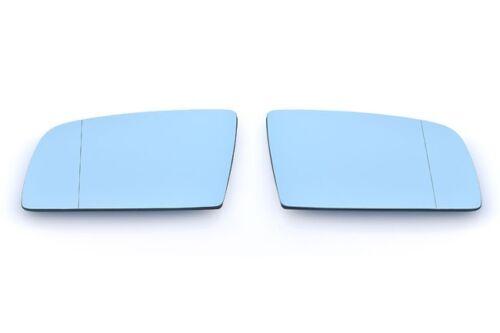 Per BMW e60 e61 e63 VETRO SPECCHIO R L SPECCHIETTI asphärisch BLU riscalda Set