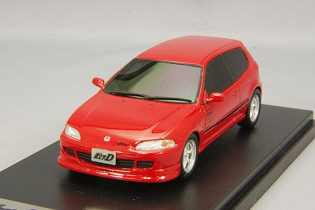 1 43 Hi-Story Modelador Honda Civic EG6 las iniciales D Shoji Shingo rosso MD43206