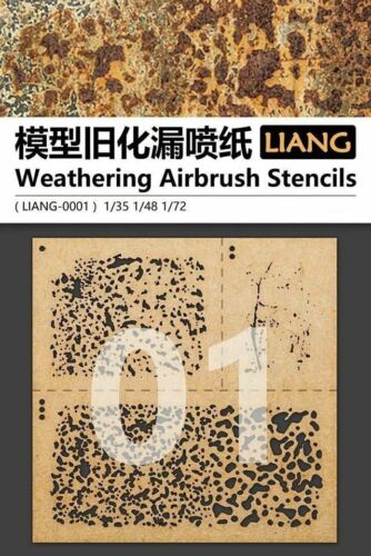 LIANG WEATHERING AIRBRUSH STENCILS LIANG-00001