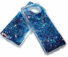 For Samsung Galaxy S8 - Blue Glitter Stars Liquid Quicksand Water TPU Skin Case