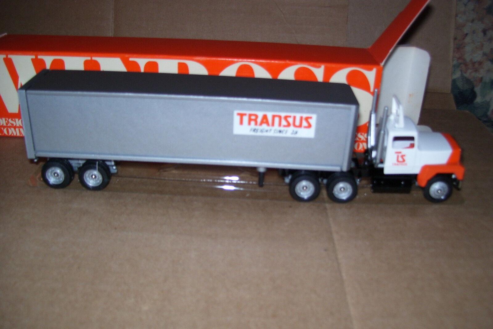1993 transus Winross diecast camión con acoplado