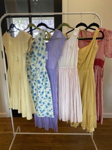 Vintage 1950s Dress Lot 6 VTG Dresses 1940s-1950s