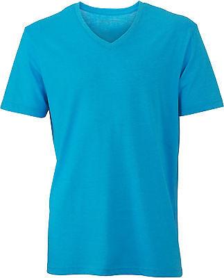 James & Nicholson Herren Men´s Heather T-Shirt V-Ausschnitt S M L XL XXL 3XL Neu