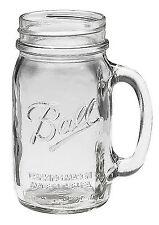 Made in USA Bridal Wedding Large BALL MASON 24 oz Drinking Glass Jar with Handle