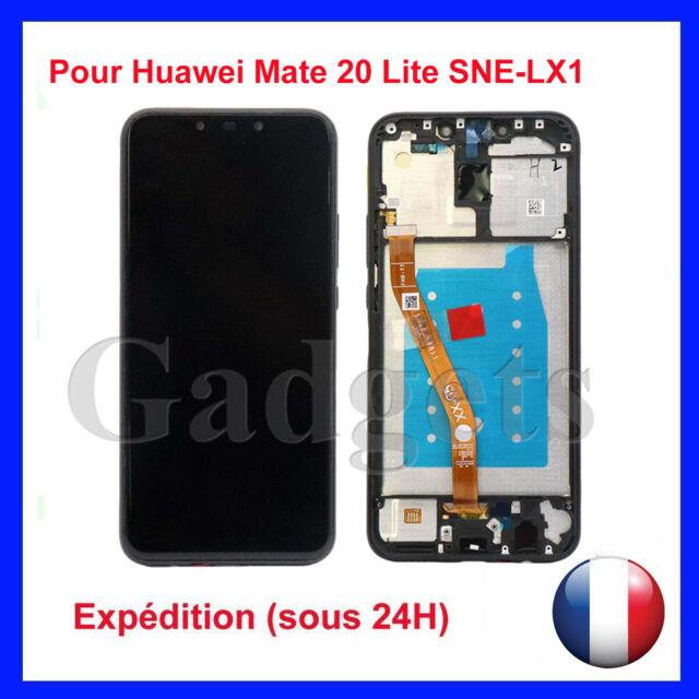 ECRAN LCD + VITRE TACTILE POUR HUAWEI MATE 20 LITE SNE-LX1 AVEC CADRE NOIR