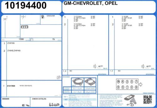 1//2008- Cylinder Head Bolt Set OPEL ZAFIRA B 16V 1.6 115 A16XER
