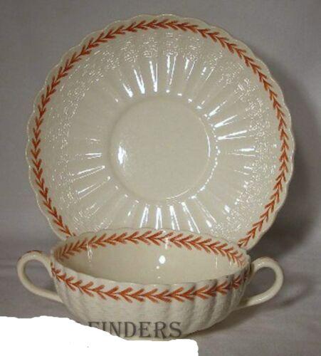 SPODE china IVANHOE RUST pattern Cream Soup /& Saucer Set