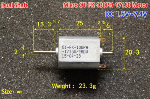 DC1.5V 3.7V 6V 7.4V 13000RPM High Speed FK-130PH Mini 130 Carbon Brush Motor DIY