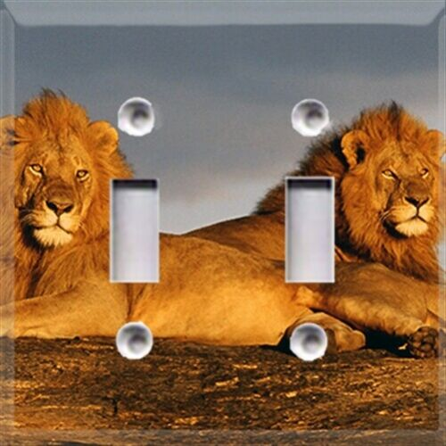 African Lions Themed Light Switch Cover Choose Your Cover Home Decor