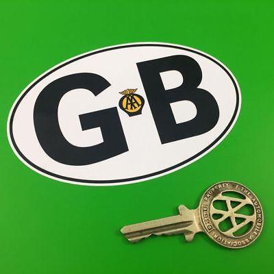 """GB RAC Car Van Truck /& Motorcycle Stickers 6/"""""""
